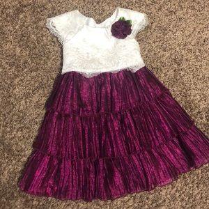 Ruffle and lace dress